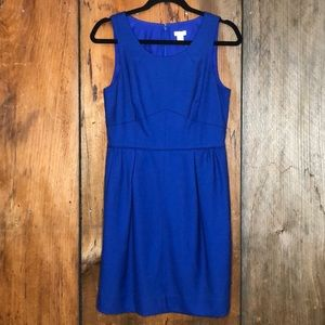 JCrew Royal Blue Wool Blend Sleeveless Dress Sz 6